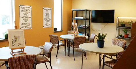 The art room at the Grace Centre