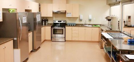 The kitchen area at the Grace Centre