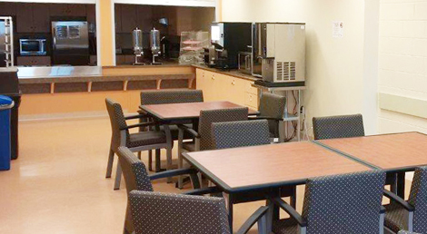 Client dining area at the Grace Centre