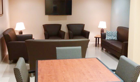Client living room at the Grace Centre