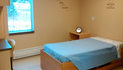 A client room at the Grace Centre