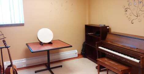 Music room at the Grace Centre